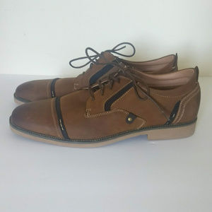 Madden Lessim Mens Leather Cap-Toe Shoes Size 11